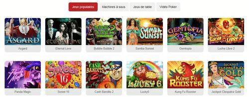 Jeux sur Casino Clic