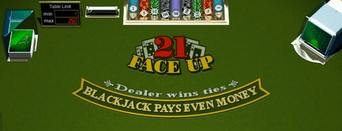 Blackjack Face Up 21 RTG